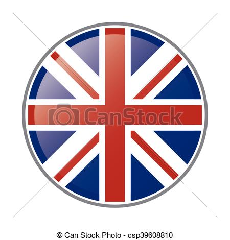 450x470 Flat Design Great Britain Flag Emblem Icon Vector Vector Clip