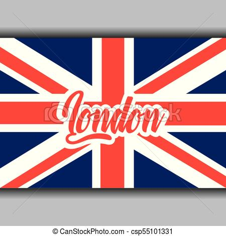 450x470 London Text With England Flag National Symbol Vector Vectors