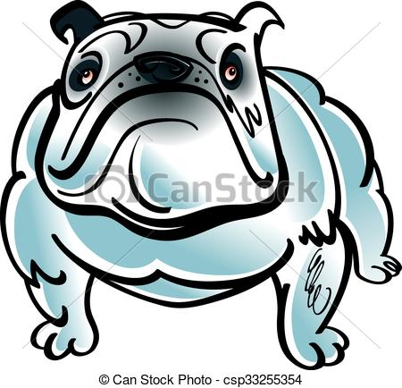 450x434 Colorful Illustration Of The Dog Bulldog Clipart Vector
