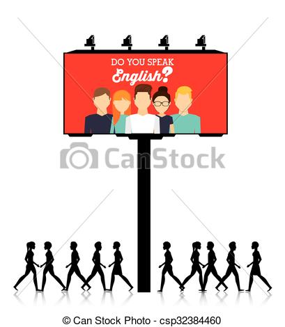 409x470 Learn English Design Learn English Design, Vector Clip Art