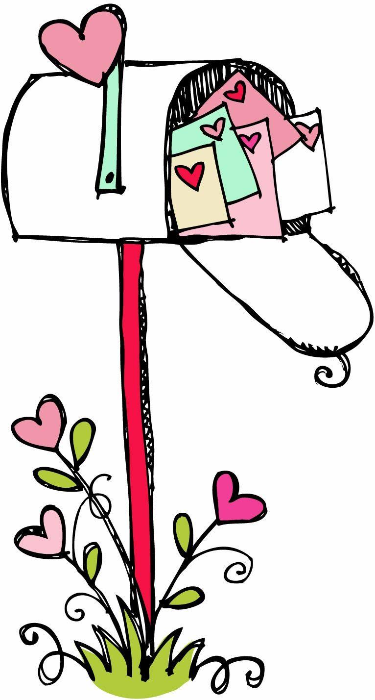 766x1428 Mailbox Clipart Black And White Happy Valentines Day Valentine'S