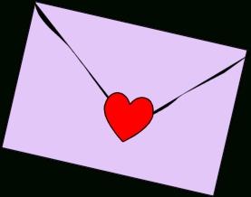 277x218 Top Of Valentine Envelope Clipart