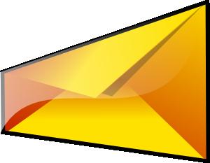 300x233 Yellow Envelope Clip Art
