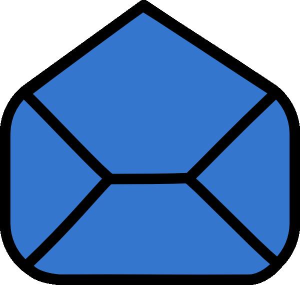 600x570 Blue Envelope Open Clip Art