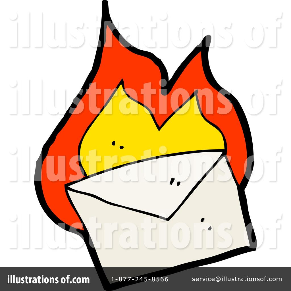 1024x1024 Burning Envelope Clipart