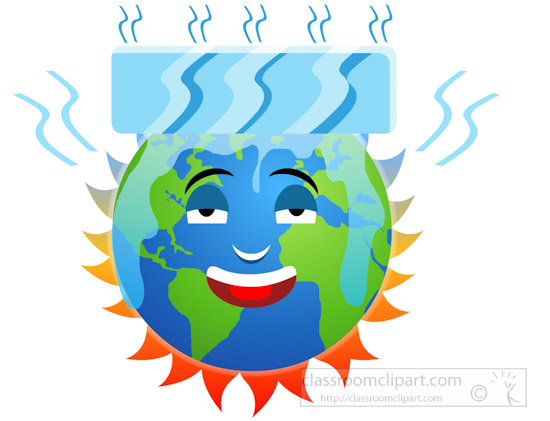 550x421 Environment Clipart Burning Earth Character Cooling Itself