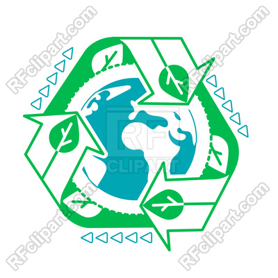 400x400 Environment Concept With Recycling Arrows Royalty Free Vector Clip