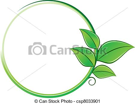 450x347 Environment Symbol. Green Leaves On Frame As An Environment