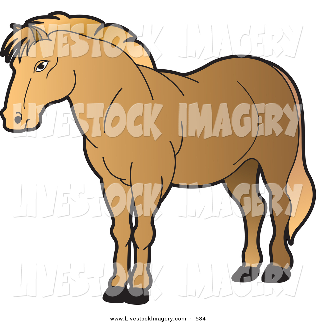 1024x1044 Clip Art Of A Strong Brown Horse By Lal Perera
