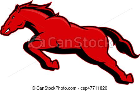 450x291 Running Mustang Horse. Clipart Picture Of A Running Mustang Horse
