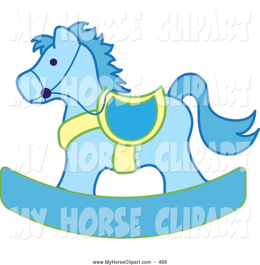 1024x1044 Clip Art Of A Blue And Yellow Rocking Horse By Pams Clipart
