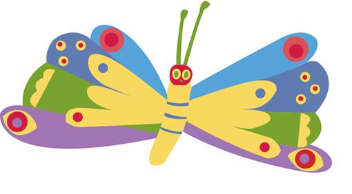 510x282 Template Crown Template, Hungry Caterpillar And Butterfly