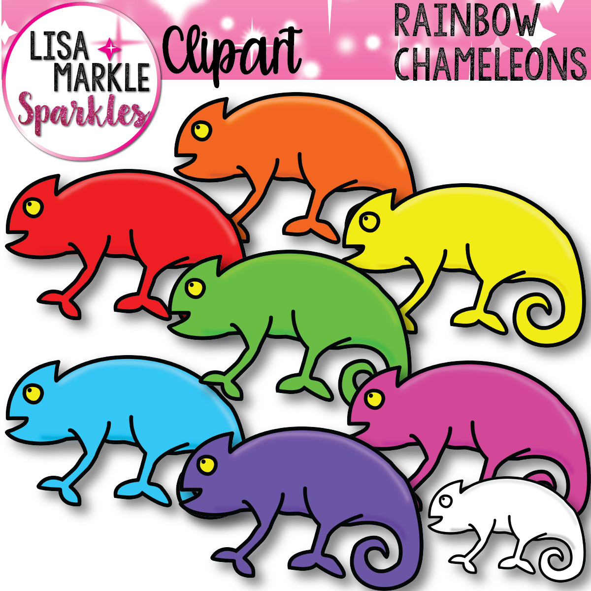 1200x1200 Colorful Chameleons Clip Art Chameleons, Activities And Eric Carle