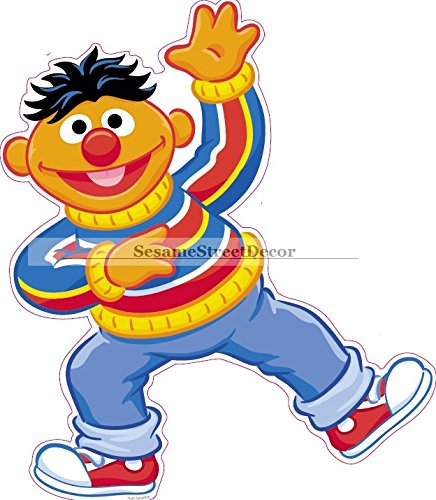 436x500 9 Ernie 123 Sesame Street Removable Peel Self Stick