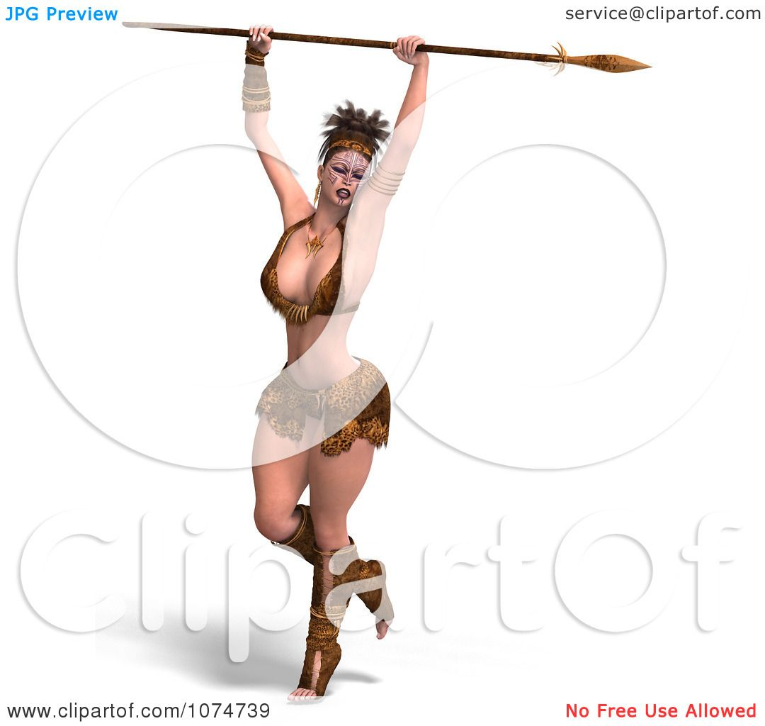 1080x1024 Clipart 3d Warrior Princess With A Spear 6