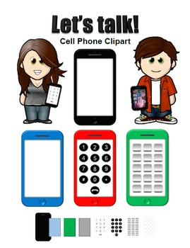 269x350 Cell Phone Clipart Images By Esl Kidz Teachers Pay Teachers