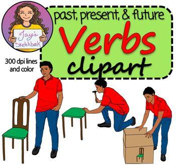 350x327 Verb Tenses Clipart