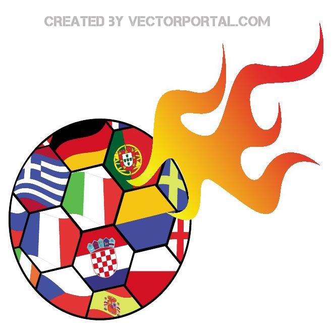 660x660 Euro Soccer 2012 Vector Clip Art