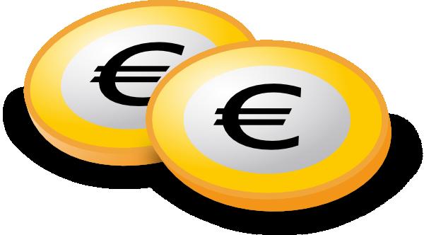 600x332 Euro Coins Clip Art