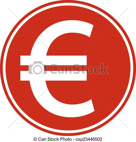 450x470 Euro Button On White Background. Vector Illustration. Vector