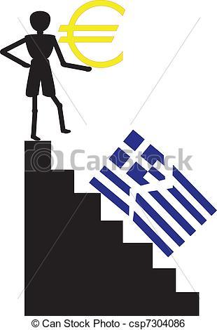 310x470 Greece Out Of Euro Crisis Clip Art Vector