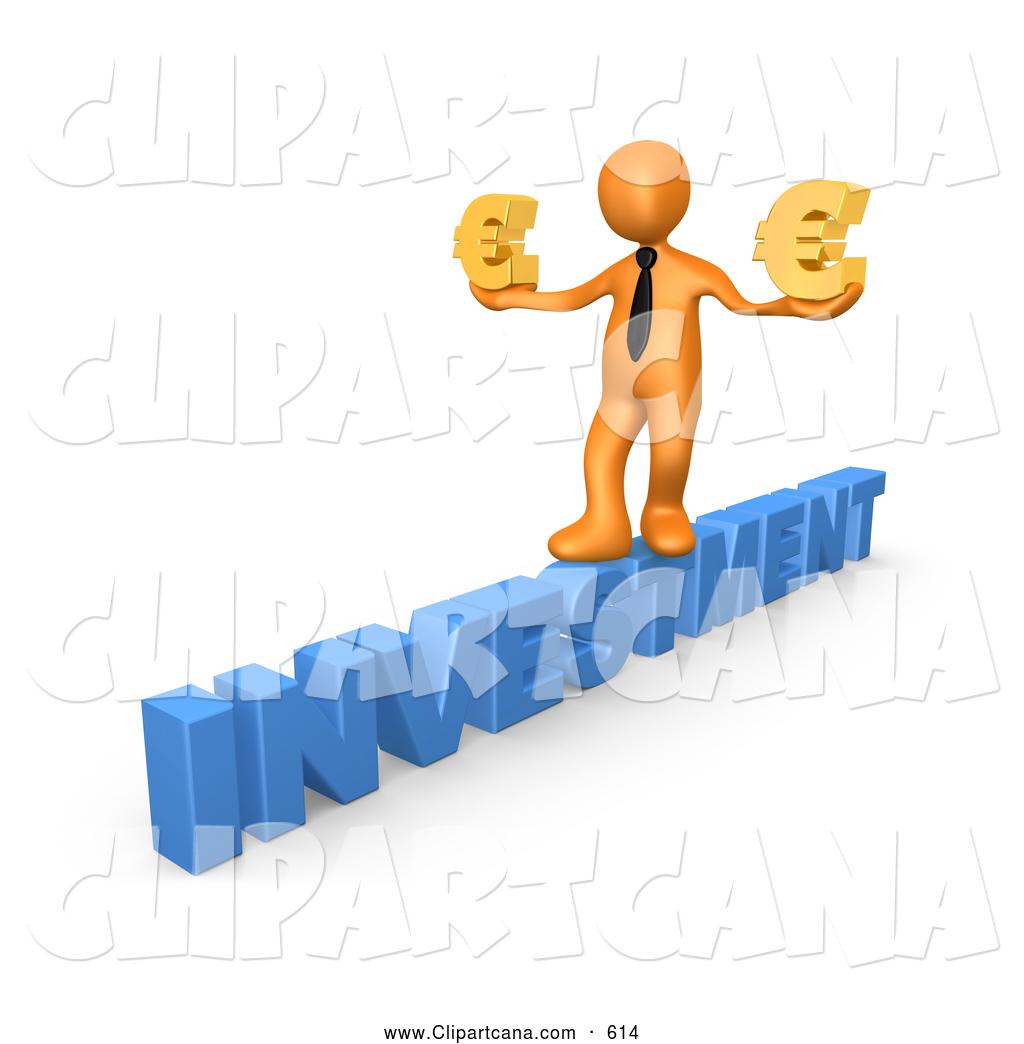 1024x1044 Clip Art Of A 3d Orange Businessman Balancing And Walking Across