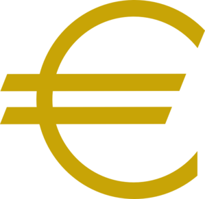299x291 Currency Euro Gold Clip Art