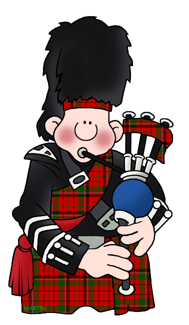 378x648 Europe Clip Art By Phillip Martin, Scotland Bagpipes