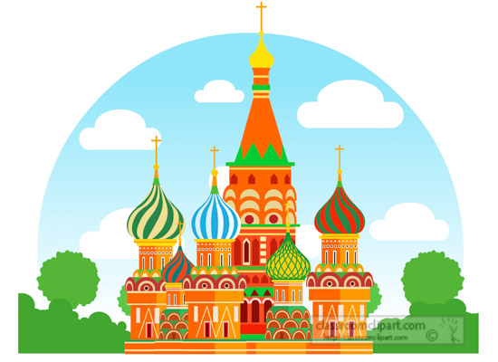 550x400 Europe Clipart Colorful Saint Basil Cathedral Moscow Russia