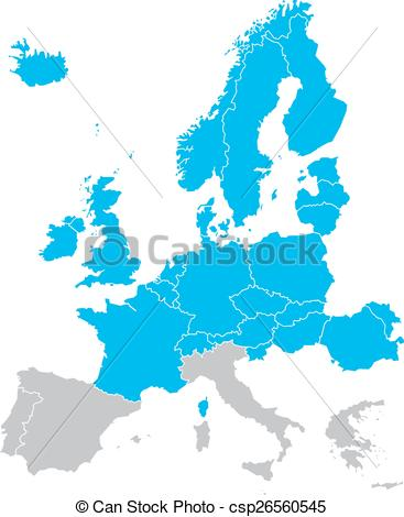 367x470 Europe Map Isolated On The White Background Eps Vector