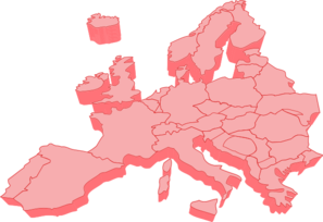 297x204 Map Of Europe 3d Clip Art