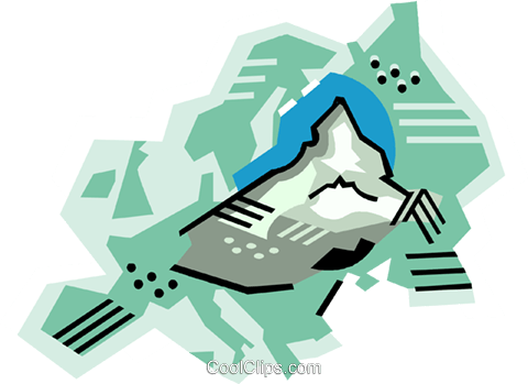 480x349 Geotechnical Style, Europe, Swiss Alps Royalty Free Vector Clip