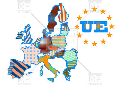 400x283 Abstract Map Of European Union Royalty Free Vector Clip Art Image