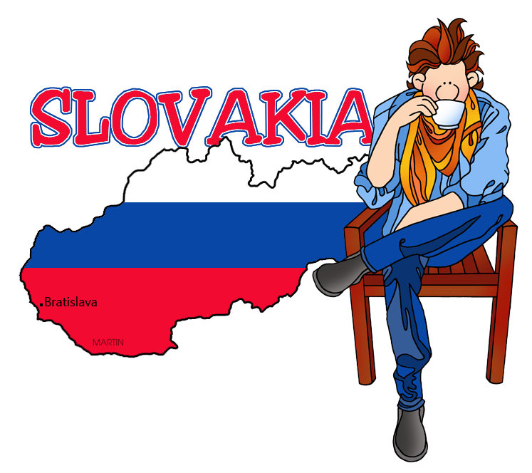 747x664 Europe Clip Art By Phillip Martin, Slovakia Map