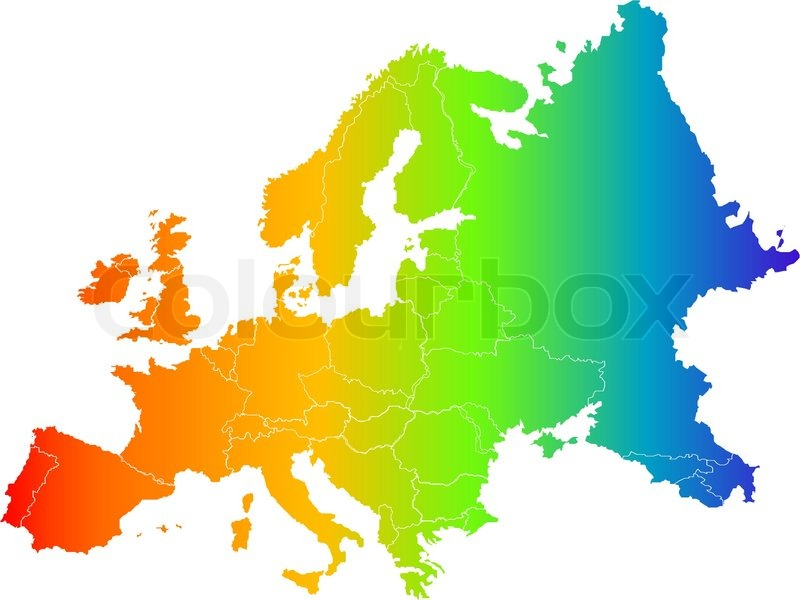 800x600 Abstract Europe Color Vector Map On White Stock Vector Colourbox