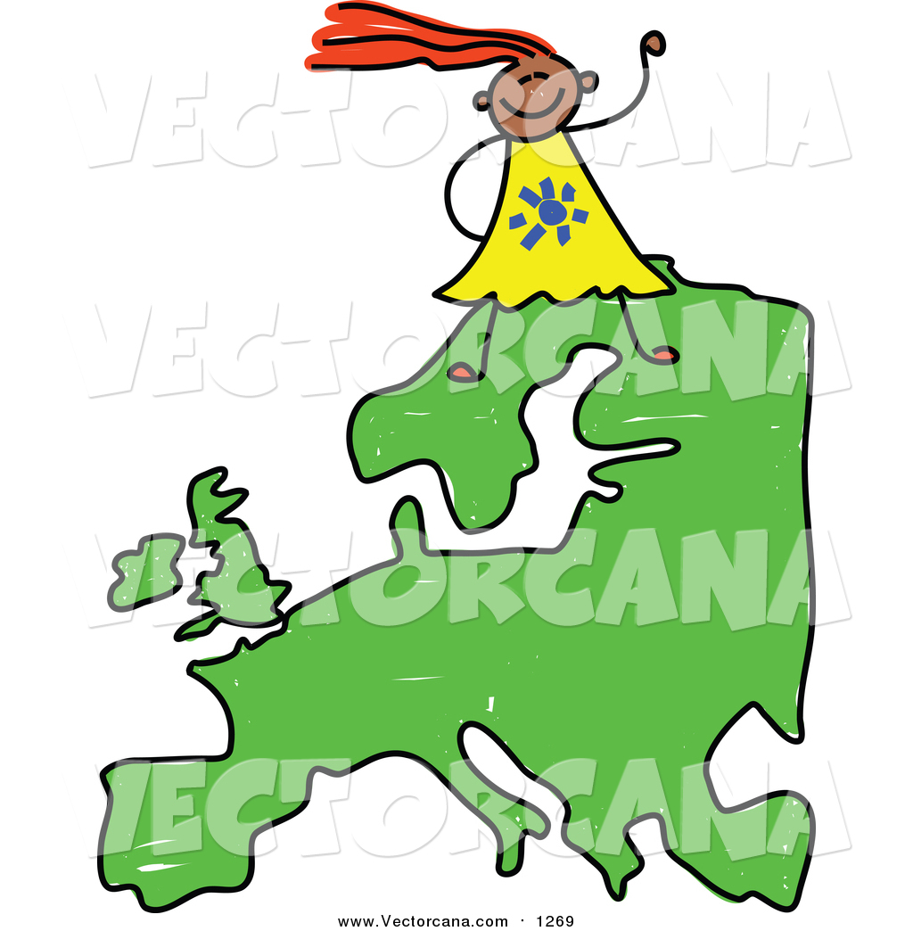 1024x1044 Vector Of A Happy European Girl Walking On A Map Of Asia By Prawny