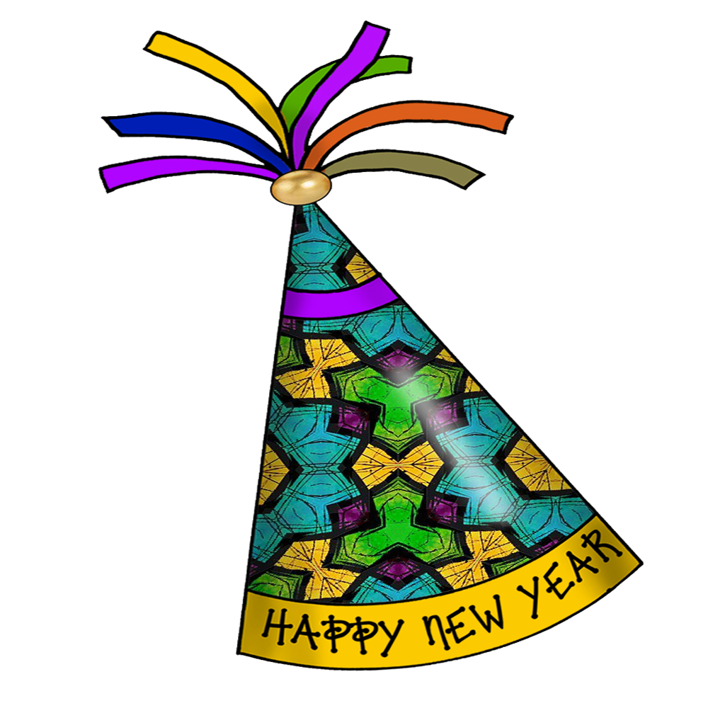 1000x1000 New Years Party Clipart