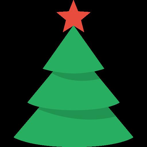 512x512 Christmas Tree Clip Art Image