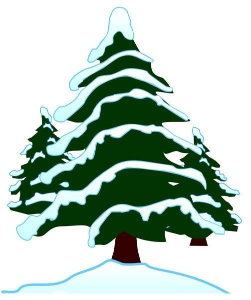 503x600 Modest Decoration Evergreen Tree Clipart Clip Art B W I Abcteach