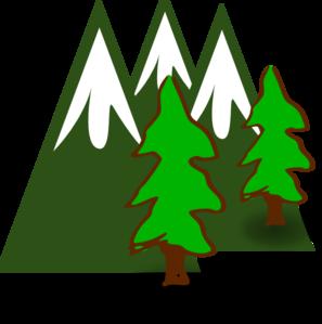 297x299 Evergreen Mountains Clip Art