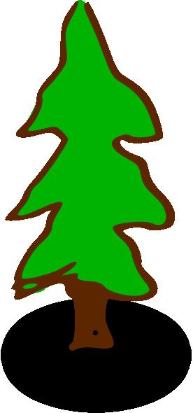 276x590 Evergreen Tree Clip Art