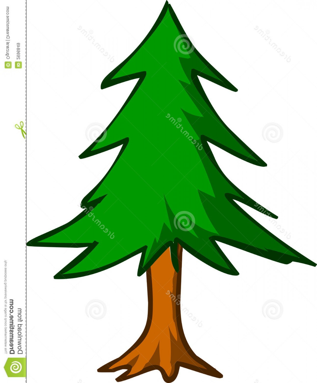 1292x1560 Evergreen Tree Outline Clip Art