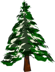 231x300 Snow Covered Evergreen Trees Clip Art Cliparts