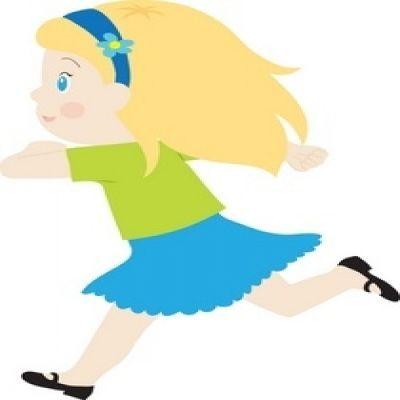 400x400 Coolest Girl Running Clipart