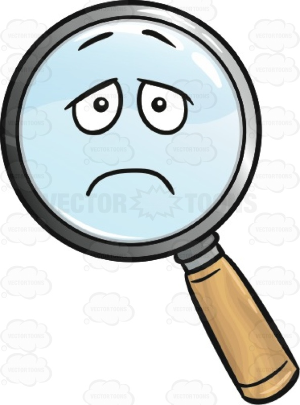 593x800 Depressed Magnifying Glass Emoji Cartoon Clipart Vector Toons