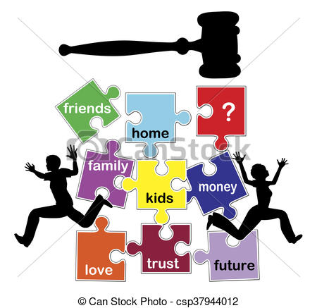 450x437 Disastrous And Damaging Divorce. Concept Sign Of A Divorcing