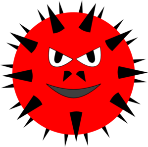 299x297 Evil Virus2 Clip Art