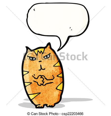 449x470 Evil Cartoon Cat Clip Art Vector
