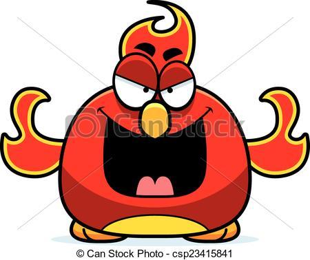 450x378 Evil Little Phoenix. A Cartoon Illustration Of An Evil Eps