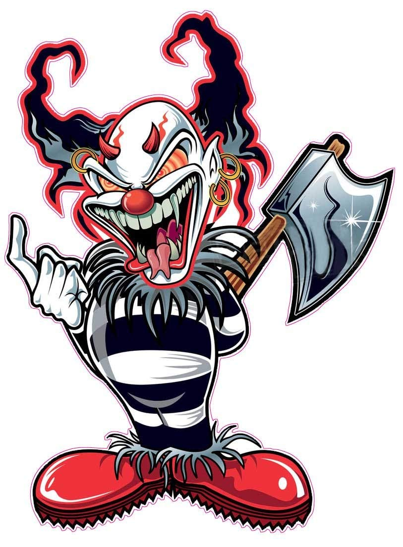 813x1104 Evil Clown Decal 5 In The United States Automotive